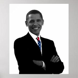 President Obama and U.S. Flag Tie Print
