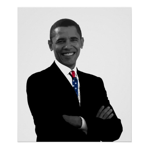 President Obama and U.S. Flag Tie Print | Zazzle
