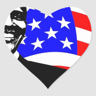 President Obama Attire Heart Sticker