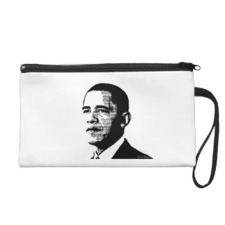 President Obama Bagettes Bag (Obama Mama) Wristlet Clutches