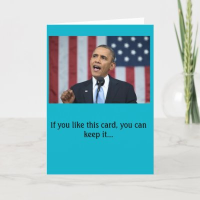 Funny Obama Yes We Can Birthday Card Zazzle
