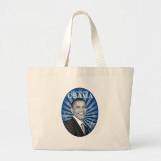 president obama blue bw large tote bag