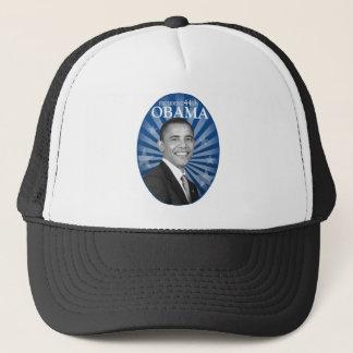 president obama blue bw trucker hat
