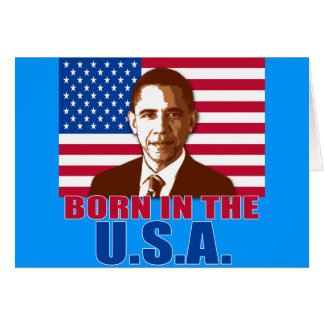 President Obama Born in the USA Products Card