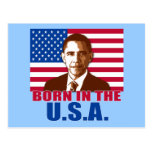 President Obama Born in the USA Products Postcard