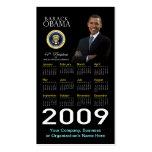 President Obama - Business Card Pocket Calendar