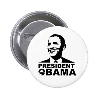 President Obama button badge