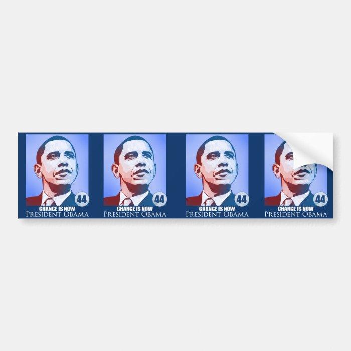 President Obama, Change is Now Sticker
