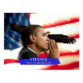 President Obama Change we can Believe Collectible Postcard
