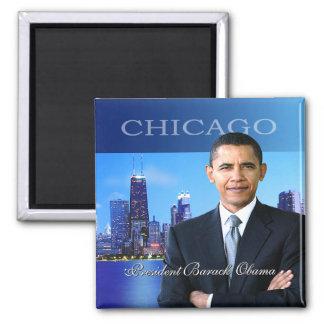 President Obama Chicago Skyline Magnet