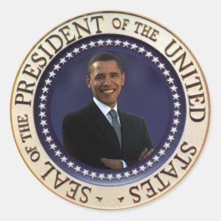 President Obama Classic Round Sticker