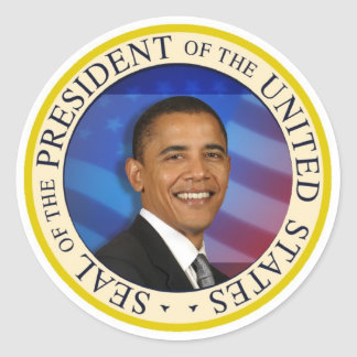 """President Obama Collectibles Small 1 1/4"""" Sticker"""