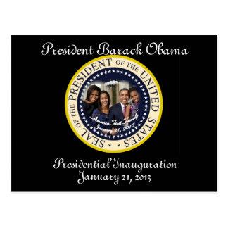 PRESIDENT OBAMA FAMILY 2013 Inauguration Postcard
