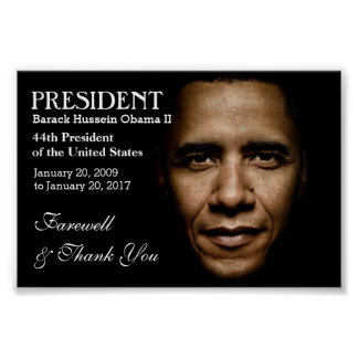 President Obama Farewell & Thank You Poster