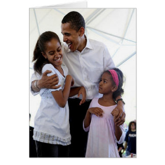 President Obama Father & Daughters Blank Card