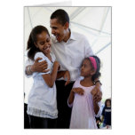 President Obama Father & Daughters Blank Cards