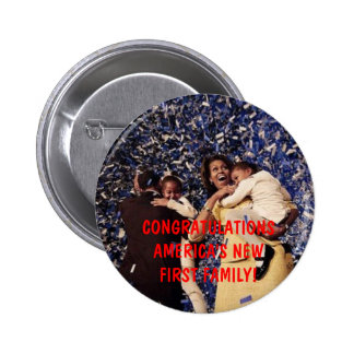 PRESIDENT OBAMA & FIRST FAMILY 2 INCH ROUND BUTTON