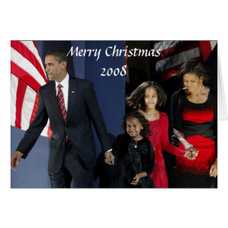 President Obama First Family Christmas 2008 Card