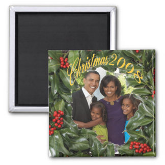 President Obama First Family Christmas 2008 Magnet