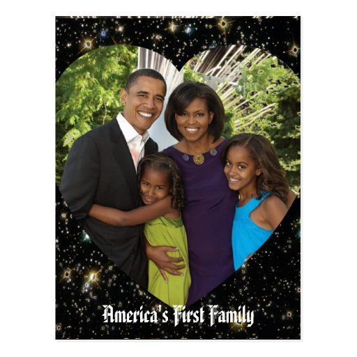 President Obama First Family Keepsake Postcard
