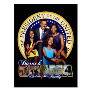 President Obama & First Family Postcard