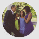 President Obama First Family Round Sticker