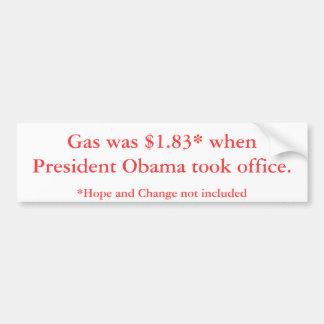 President Obama Gas Prices Bumper Sticker