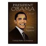 President Obama - Grunge Pocket Calendar Business Card Templates