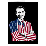 President Obama in an American Flag Suit Greeting Cards