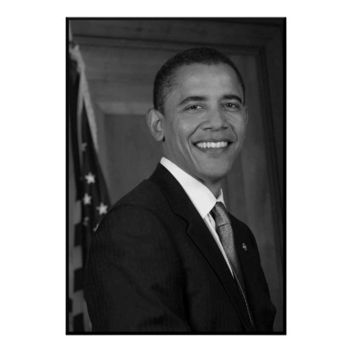 President Obama -- In Black and White Posters