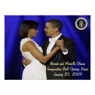 President Obama Inauguration Ball Opening Dance Poster