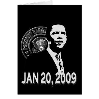 President Obama Inauguration BW Card
