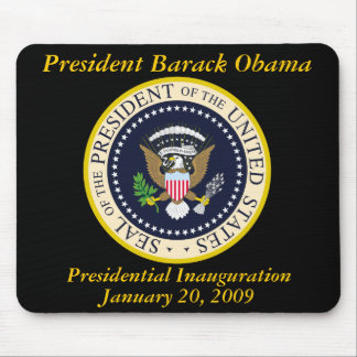 PRESIDENT OBAMA Inauguration Commemorative Mouse Pad
