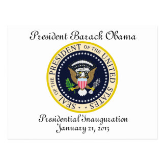PRESIDENT OBAMA Inauguration Commemorative Postcard