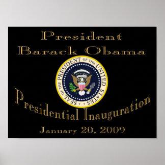 PRESIDENT OBAMA Inauguration Commemorative Poster