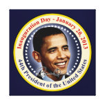 President Obama Inauguration Day Stretched Canvas Prints
