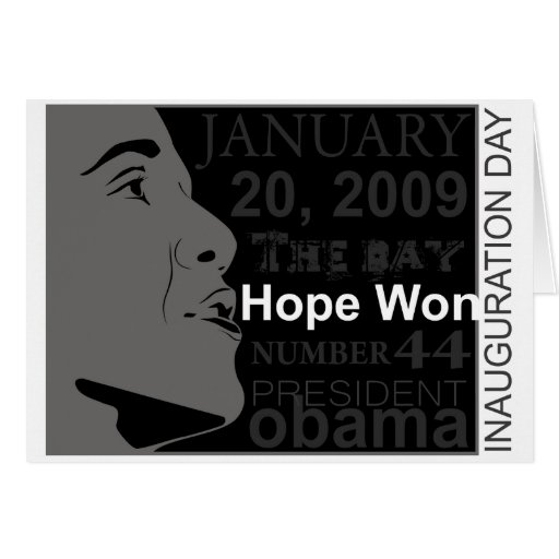 President Obama - Inauguration day Greeting Cards