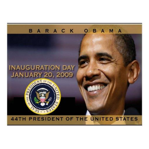 President Obama Inauguration Day Commemorative Post Card
