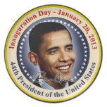 President Obama Inauguration Day Plate