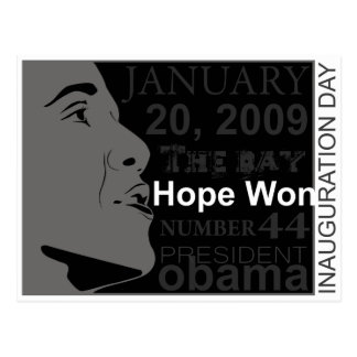 President Obama - Inauguration day Postcard