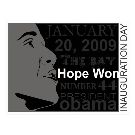 President Obama - Inauguration day Post Cards