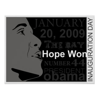 president obama - inauguration day print