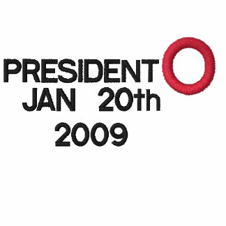 PRESIDENT OBAMA INAUGURATION EMBROIDERED T-SHIRT