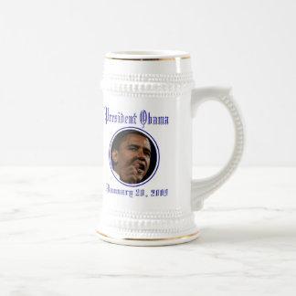 President Obama Inauguration Keepsake Stein 18 Oz Beer Stein