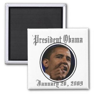 President Obama Inauguration Keepsakes 2 Inch Square Magnet