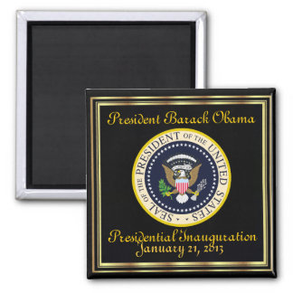 PRESIDENT OBAMA January 21, 2013 Inauguration 2 Inch Square Magnet