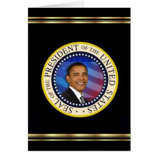 President Obama Keepsake Christmas 2008 Elegant Card