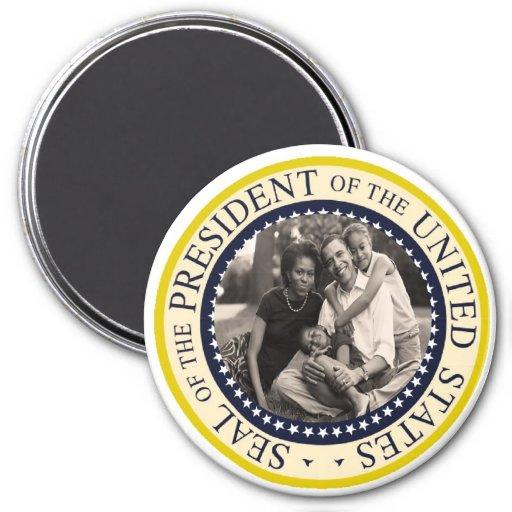 "President Obama Keepsake Large 3"" 3 Inch Round Magnet"