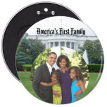 "President Obama Keepsakes First Family Large 6"" Button"