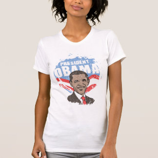 President Obama Ladies Sheer V-Neck (Fitted) Tees